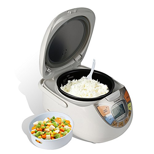 Rosewill RHRC-13001 5.5 Cup Uncooked Fuzzy Logic Rice Cooker and Food Steamer, White (Porridge Rice Cooker compare prices)