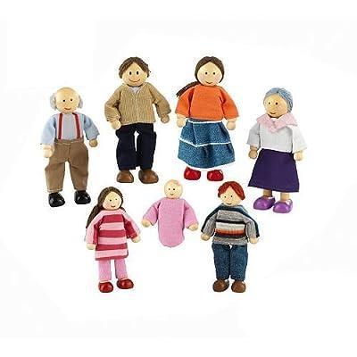Doll Family of 7 Caucasian from KIDKRAFT (DropShip)