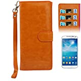 Universal Crazy Horse Texture Wallet Style Leather Case Pocket Sleeve Bag with Credit Card Slots & Lanyard for Samsung Wave Y S5380