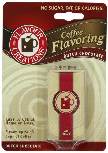 Flavour Creations Coffee Flavoring Tablets, Dutch Chocolate, 48-Count Dispensers (Pack of 6)