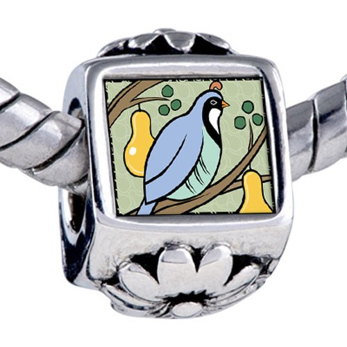 Pugster Bead Partridge In Pear Tree Photo Storybook Beads Fits Pandora Bracelet