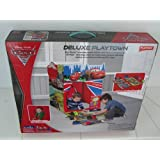 Disney Pixar Cars 2 Deluxe Playtown by Playhut. Twist 'N Fold Pop up set up with 9 detachable pieces and tunnel port for crawl through fun. Includes Playmat with roads and tunnels.