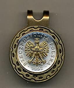 Gorgeous 2-Toned Gold on Silver Polish Eagle with crown - Coin - Golf Ball Marker -... by J&J Coin Jewelry