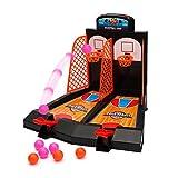 Tablero Minibasket juego de tiro juego de 2 jugadores Shootout aros baloncesto con dispositivo de puntuación para niños por Wishtime