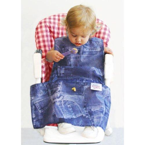 The Original Crumb Chum Bib, Denim Pockets Pattern, Infant Size