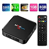 TICTID M9S Display (Update from T95M) Android 5.1 Tv Box Amlogic S905 Quad-Core-1GB RAM 8GB Flash Emmc-Support 4k-Kodi -Wi-Fi Media Player with Front LED Clock