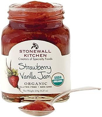 Stonewall Kitchen Organic Strawberry Vanilla Jam, 8.25 Ounce by Stonewall Kitchen