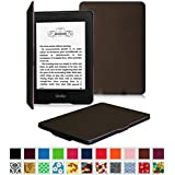 Fintie Kindle Paperwhite SmartShell Case - The Thinnest and Lightest Leather Cover for All-New Amazon Kindle Paperwhite (Fits All versions: 2012, 2013, 2014 and 2015 New 300 PPI), Brown