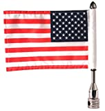 "Pro Pad Fixed 1/2"" Flag Mount with 6"" by 9"" USA Flag for Harley Tour-Pak"