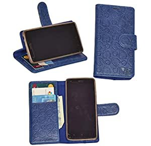 R&A Pu Leather Wallet Flip Case Cover With Card & ID Slots & Magnetic Closure For LG L80