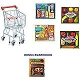 Melissa & Doug Shopping Bundle: Shopping Cart, Pantry Foods, Fridge Foods, Vegetables And Fruit With Bonus Boardbook