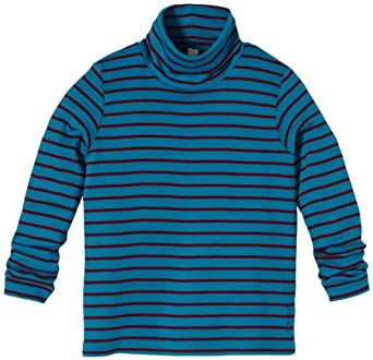 ESPRIT Jungen Langarmshirt, gestreift 103EE8K008, Gr. 104/110, Blau (449 DARK CERULEAN BLUE)