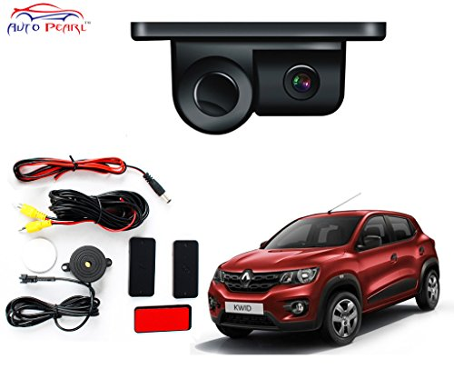 Auto Pearl- 2 in 1 Indicator Sound Alarm Car Reverse Parking Sensor camera with CCD LED Night Vision – Renault Kwid