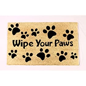 "Wipe Your Paws Doormat 18"" x 30"""