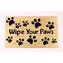Kempf Wipe Your Paws Coco Doormat Rubber Backed 18 by 30 by 0.5-Inch