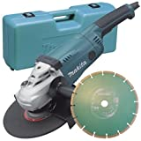 Makita GA9020KD 110V 9-inch/230mm Angle Grinder with Case and Diamond Wheel