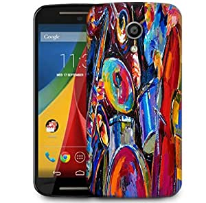 Snoogg Drum And Bass Painting Designer Protective Phone Back Case Cover For Motorola G 2nd Genration / Moto G 2nd Gen