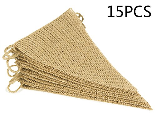 ThxToms-DIY-Burlap-Banner-Hand-Painted-Decoration-for-Wedding-Birthday-and-Kids-Party-15pcs-14ft