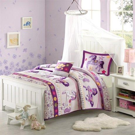 Mizone Kids Forever Ponies Comforter Set - Multi - Twin front-68091