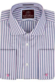 Sartorial Pure Cotton Rope Striped Shirt [T11-4579-S]
