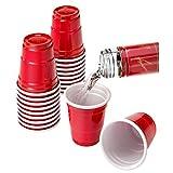 Mini Red Cup Shot Glasses Value Pack -- 40 Shot Cups (2 Oz, Plastic)