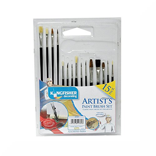 kingfisher-15-pack-artists-paint-brushes-set-free-gift