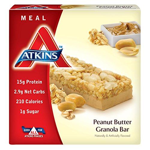 Atkins Meal Bar, Peanut Butter Granola, 5 Bars (Atkins Advantage Snack Bars compare prices)