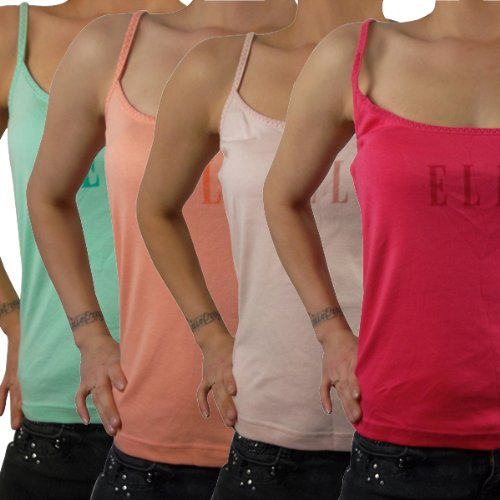 Ladies Elle Vest Straps Womens Top Cami Logo Womens Casual Sports Strappy 12 14