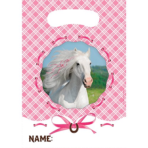 Creative Converting Heart My Horse Plastic Loot Bags (8 Count)