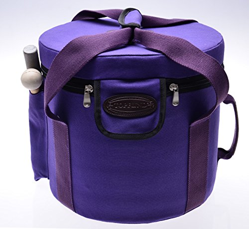 Purple Color Padded Carrying Cases for Crystal Singing Bowl - putting 8