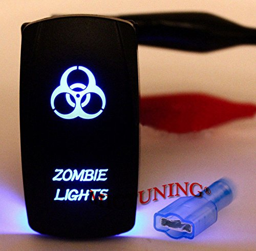 Laser Etched Blue Zombie Rocker Switch Led Light Bar 20A 12V On/Off Led Light_All Atv Utv Off Road 4X4 Vehicles Trucks Jeep Suv Boat Rv