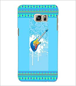 PrintDhaba Guitar D-3555 Back Case Cover for SAMSUNG GALAXY NOTE 5 (Multi-Coloured)