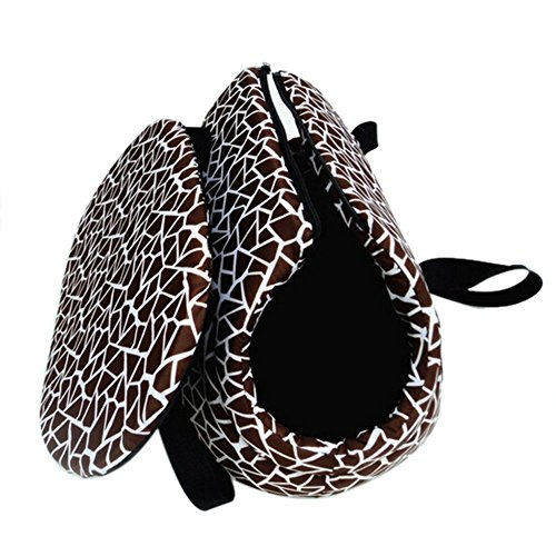 Pidsen Foldable Washable Small Dog Cat Pet Travel Carrier Tote Bag Soft padded Purse Shoulder Bag Purse (S, Coffee)