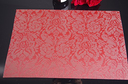 SiCoHome Placemats Rose Flower Vinyl Placemats PVC Dining  : 51RMcswUztL from www.bta-mall.com size 500 x 331 jpeg 53kB