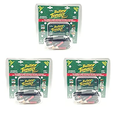 Deltran Battery Tender Plus 1 Bank 12 Volt 3-Pack 021-0128(x3)