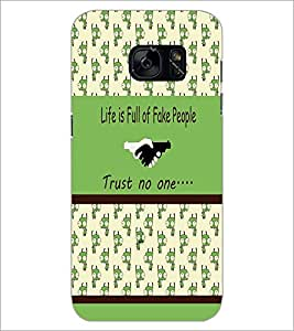PrintDhaba Quote D-3834 Back Case Cover for SAMSUNG GALAXY S7 (Multi-Coloured)