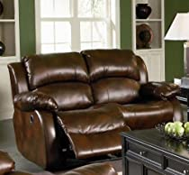 Hot Sale Coaster Morrell Love Seat with 2 Recliners in Rich Brown