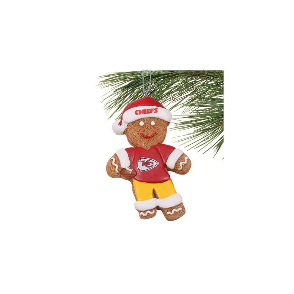 NFL Kansas City Chiefs Gingerbread Football Player