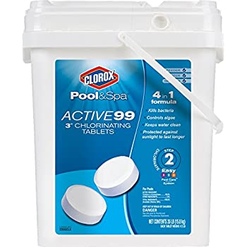 Clorox Pool&Spa Active 99 3-Inch Chlorinating Tablets, 35-Pound 22035CLXW