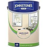 Johnstones No Ordinary Paint Water Based Interior Vinyl Silk Emulsion County Cream 5 Litre