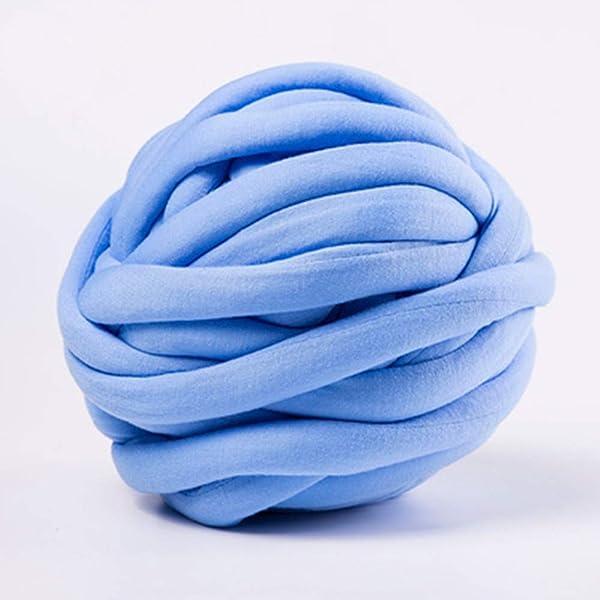 Arm Knitting Yarn, Hand Knitting, Arm Knit Yarn, Bulky Yarn, Jumbo Yarn, Giant Yarn,Cotton Tube Yarn, (Blue, 3.5 lbs) (Color: Blue, Tamaño: 3.5 lbs)