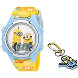 Universal Pictures Kids' DME006T Despicable Me Minions Digital Watch with Keychain Gift Set