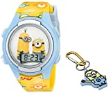 Universal Pictures Kids' DME006T Despicable Me Minions Digital Display Quartz Yellow Watch with Keychain Gift Set