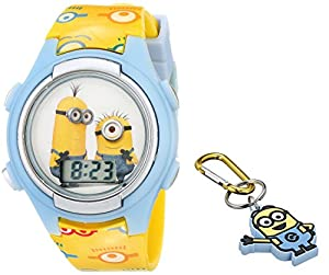 Universal pictures kids 39 dme006t despicable me minions digital watch with keychain for Despicable watches
