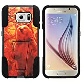 Galaxy S6 Case, Dual Layer Shell STRIKE Impact Kickstand Case with Unique Graphic Images for Samsung Galaxy S6 VI SM-G920 (T Mobile, Sprint, AT&T, US Cellular, Verizon) from MINITURTLE | Includes Clear Screen Protector and Stylus Pen - Grizzly Bear