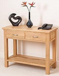 Aspen Solid Oak Console Table Hallway Furniture       reviews