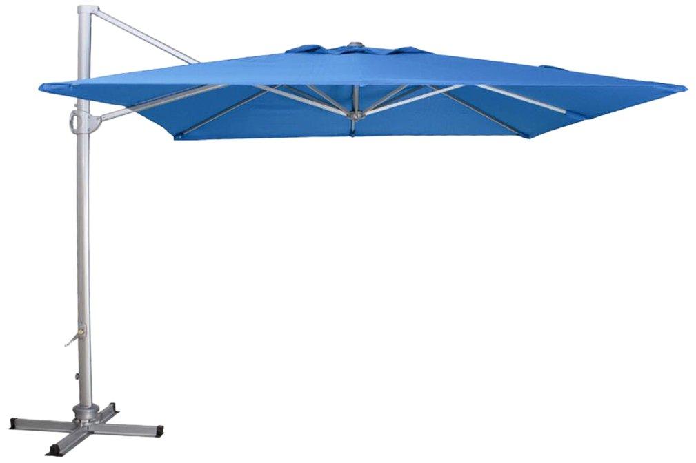 Siena Garden 255147 Ampelschirm Davos 3x3m Aluminium-Gestell silber Polyester 250g/m² petrol UPF50+, inkl. Ständerstahlkreuz jetzt bestellen