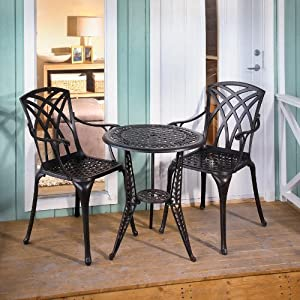 Metal Garden Table And Chairs: Ivy Bistro Table and 2