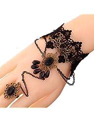 Coco Digital Fashion Women Wristband Bracelet Ring Set Jewelry