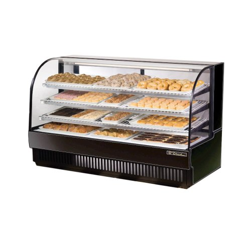 True Black Curved Glass Dry Bakery Display Case, 37 Cubic Ft (Dry Bakery Display Case compare prices)